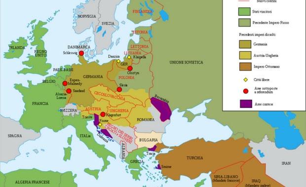 La Prima Guerra Mondiale Cartina.Quali Nuovi Stati Europei Nacquero Dopo La Prima Guerra Mondiale