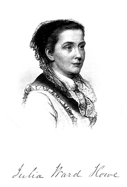Immagine di Julia Ward Howe come appare alla pagina 793 del volume 2 di History of Woman Suffrage.