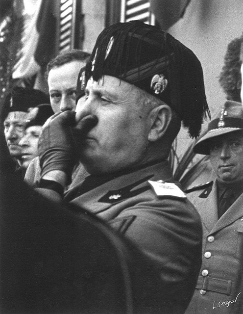 Mussolini at Stresa,Italy, 1935 Published 1939 Newsweek (cover)